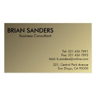 Consultor empresarial - cartões de visitas