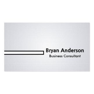 Consultor empresarial - cartões de visitas cartão de visita