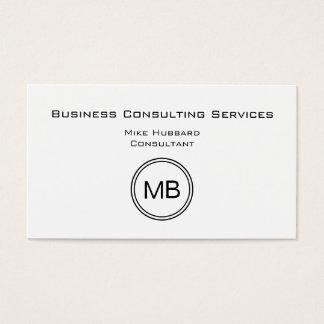Consultor empresarial do monograma - simples cartão de visitas