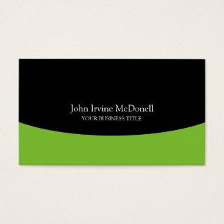 Consultor empresarial profissional verde-maçã cartão de visitas