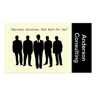 Consultores empresariais profissionais cartão de visita