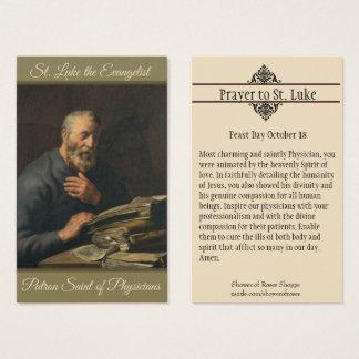 Consumidor do evangelista de St Luke do cartão
