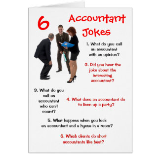 Contador - 6 piadas Bithday engraçado do contador Cartão Comemorativo