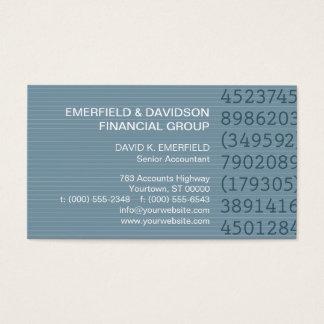 Contador azul das riscas das colunas do número cartão de visitas
