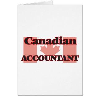 Contador canadense cartão comemorativo