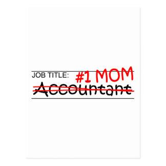 Contador da mamã do trabalho #1 cartão postal