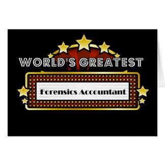 Contador do forense do mundo o grande cartão comemorativo