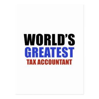 Contador do imposto do mundo o grande cartões postais