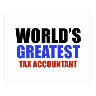 Contador do imposto do mundo o grande cartão postal