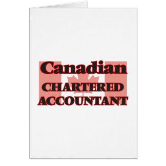 Contador fretado canadense cartão comemorativo