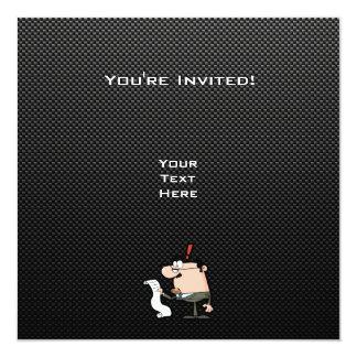 Contador lustroso convites personalizado