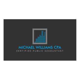 Contador moderno, logotipo financeiro no cartão de visita