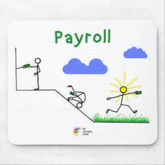 Contador Mousepad - arte da folha de pagamento