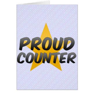 Contador orgulhoso cartoes