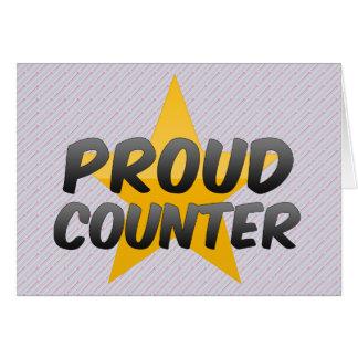 Contador orgulhoso cartão