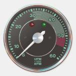 Contador/tacômetro do Rev do carro de esportes clá Adesivos Redondos
