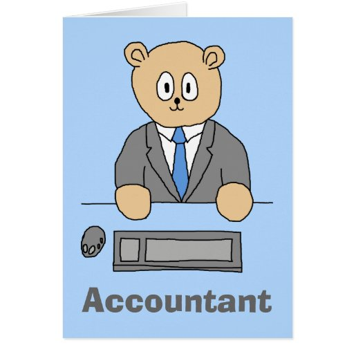 Contador, urso dos desenhos animados cartão