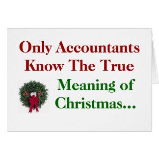 Contadores. Significado do Natal - adicione o Cartão Comemorativo
