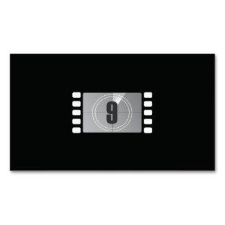 Contagem abaixo de 9 cartões de visitas magnéticos