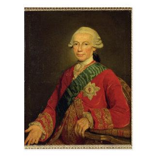 Contagem Claude-Louis-Robert de Santo-Germano 1777 Cartão Postal