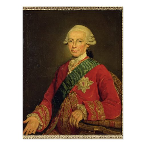 Contagem Claude-Louis-Robert de Santo-Germano 1777 Cartoes Postais