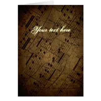 Contagem musical da folha velha, notas da música d cartao