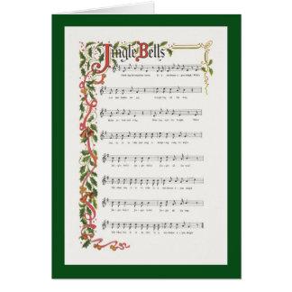 Contagem musical de Bels de tinir Cartão Comemorativo