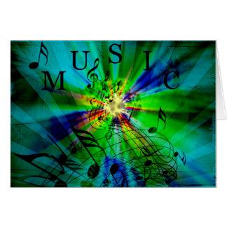 Contagem musical em um fundo abstrato cartão