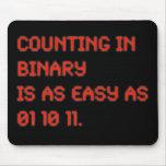 Contagem no binário mousepad