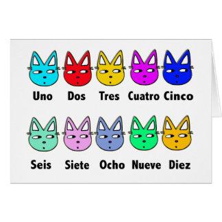 Contando gatos espanhóis cartão comemorativo
