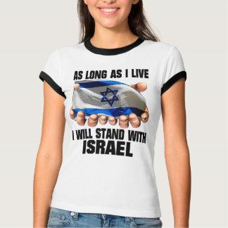 Contanto que eu viver, eu estarei com Israel T-shirts