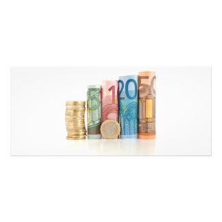 contas e moeda roladas euro 10.16 x 22.86cm panfleto