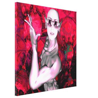 Contato estrangeiro impressão de canvas envolvidas