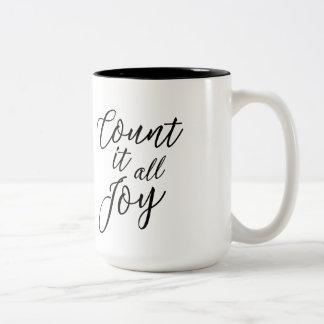 Conte-o toda a caneca de café da alegria