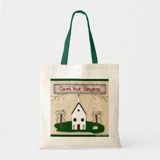 Conte seu saco da igreja das bênçãos bolsa tote
