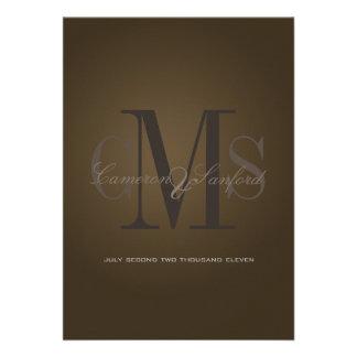 Contemporâneo de PixDezines + noire elegante/café Convites Personalizados