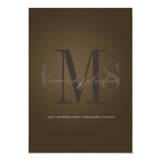 Contemporâneo de PixDezines + noire elegante/café Convite 12.7 X 17.78cm