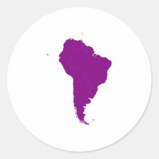 Continente de Ámérica do Sul Adesivo Em Formato Redondo