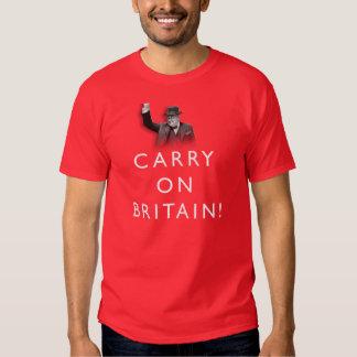 Continue Grâ Bretanha - T vermelho Tshirts