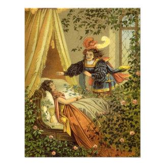 Conto de fadas da Bela Adormecida do Victorian do  Convite Personalizado