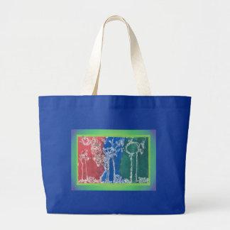 Conto de fadas descrito pelo artista da criança sacola tote jumbo