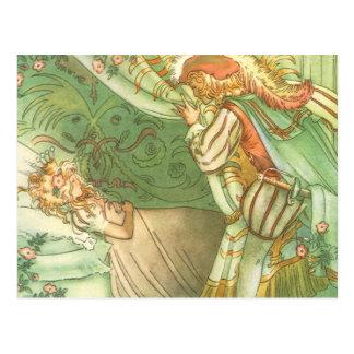 Conto de fadas do vintage, princesa da Bela Cartão Postal
