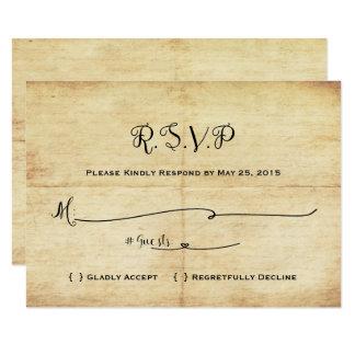 Conto de fadas que Wedding o cartão de RSVP - uma