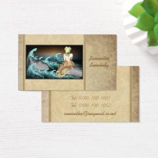 Conto dos cartões de visitas da arte da sereia