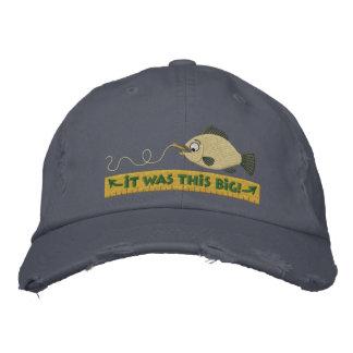 Contos dos peixes que pescam o chapéu do humor boné bordado