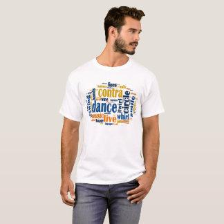 Contra a matriz da palavra da dança camiseta