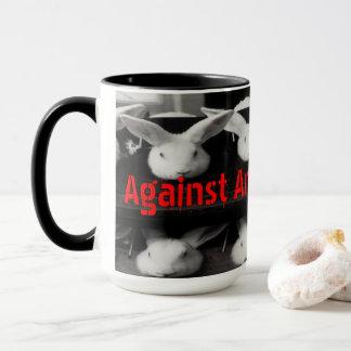 Contra o teste animal caneca de café de 15 onças