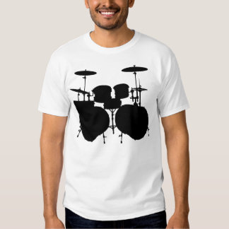 Contrabaixo Drumset - luz Camisetas