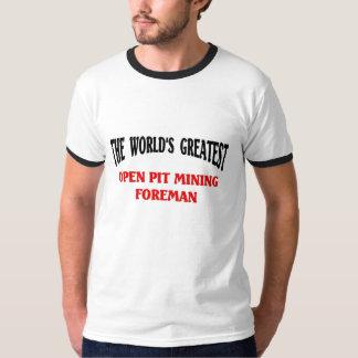 Contramestre do poço aberto t-shirts