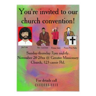 Convenção da igreja convite 11.30 x 15.87cm
